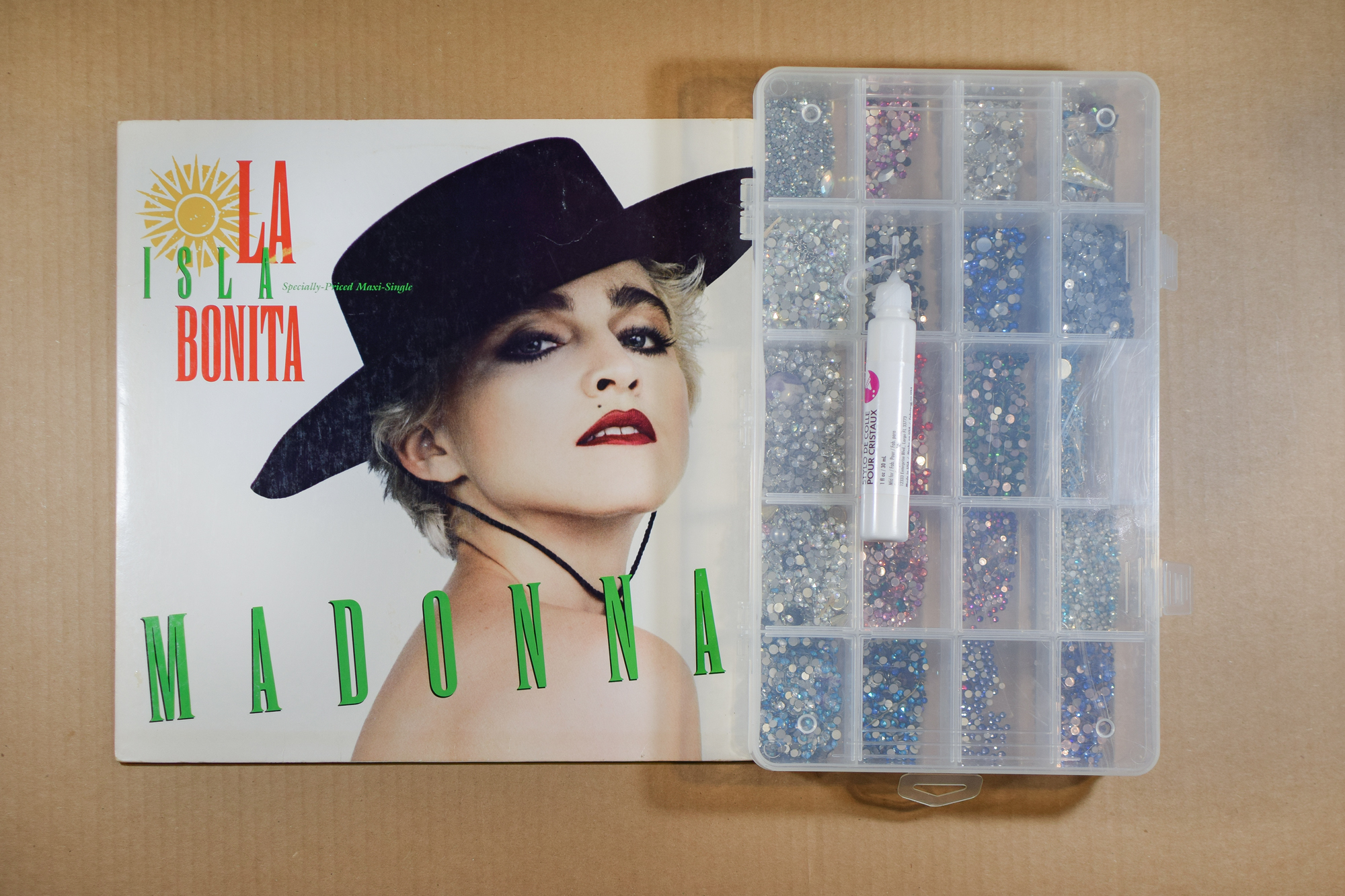 diy crystallized album cover by Quiet Lion Creations