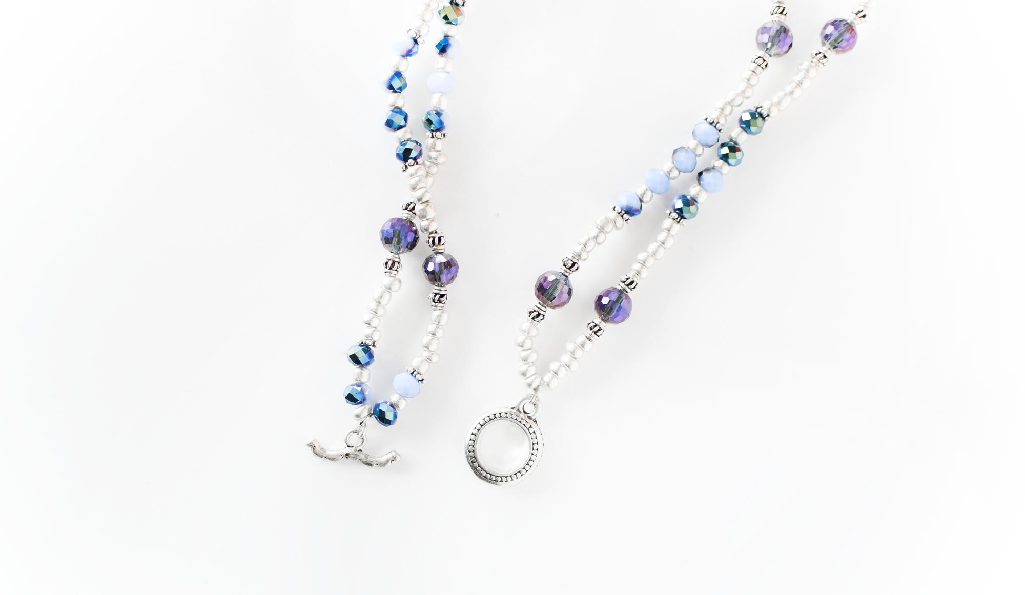 DIY Boho Beaded Bracelet/Necklace Duo