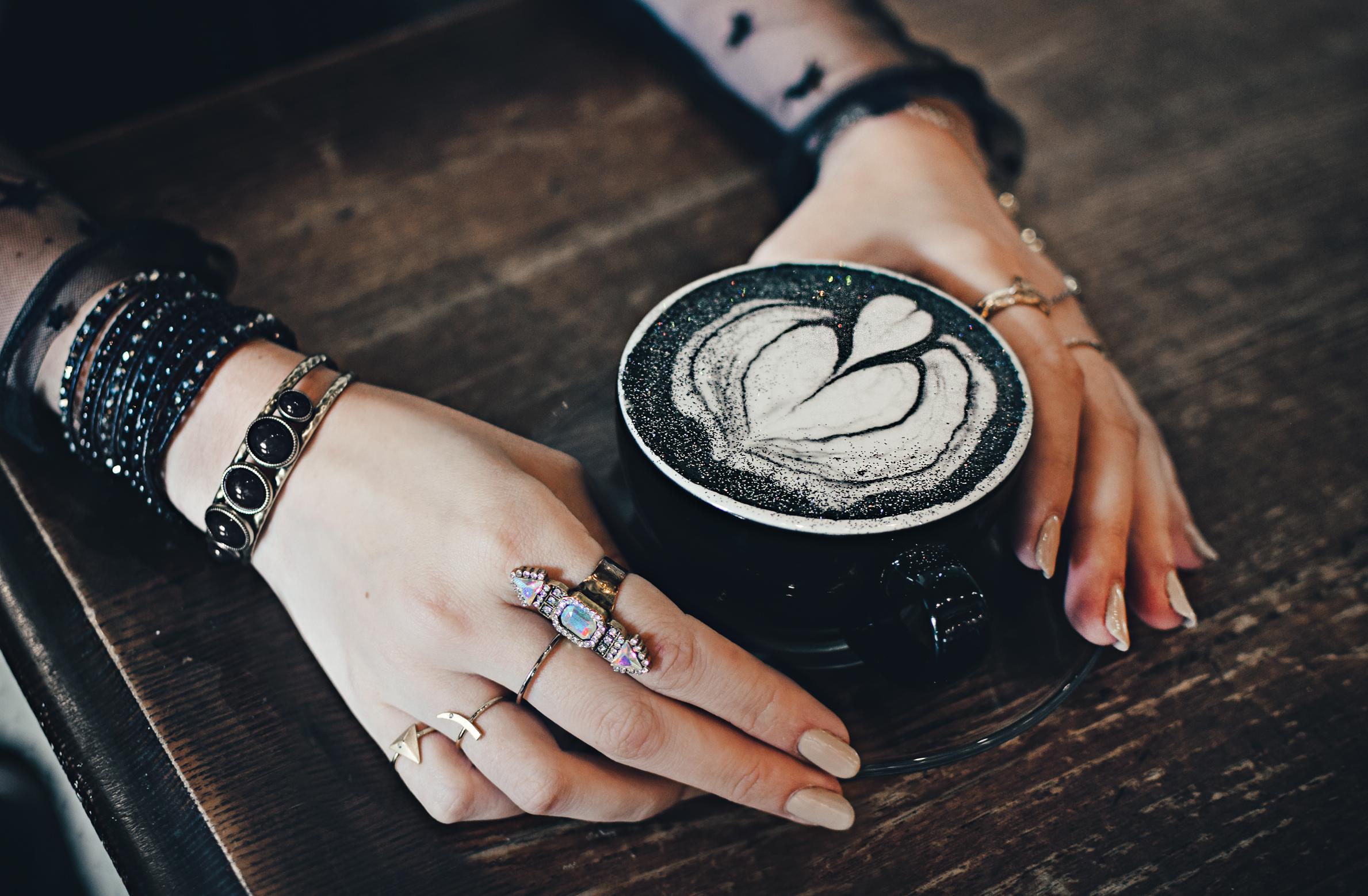 charcoal latte - quiet lion creations