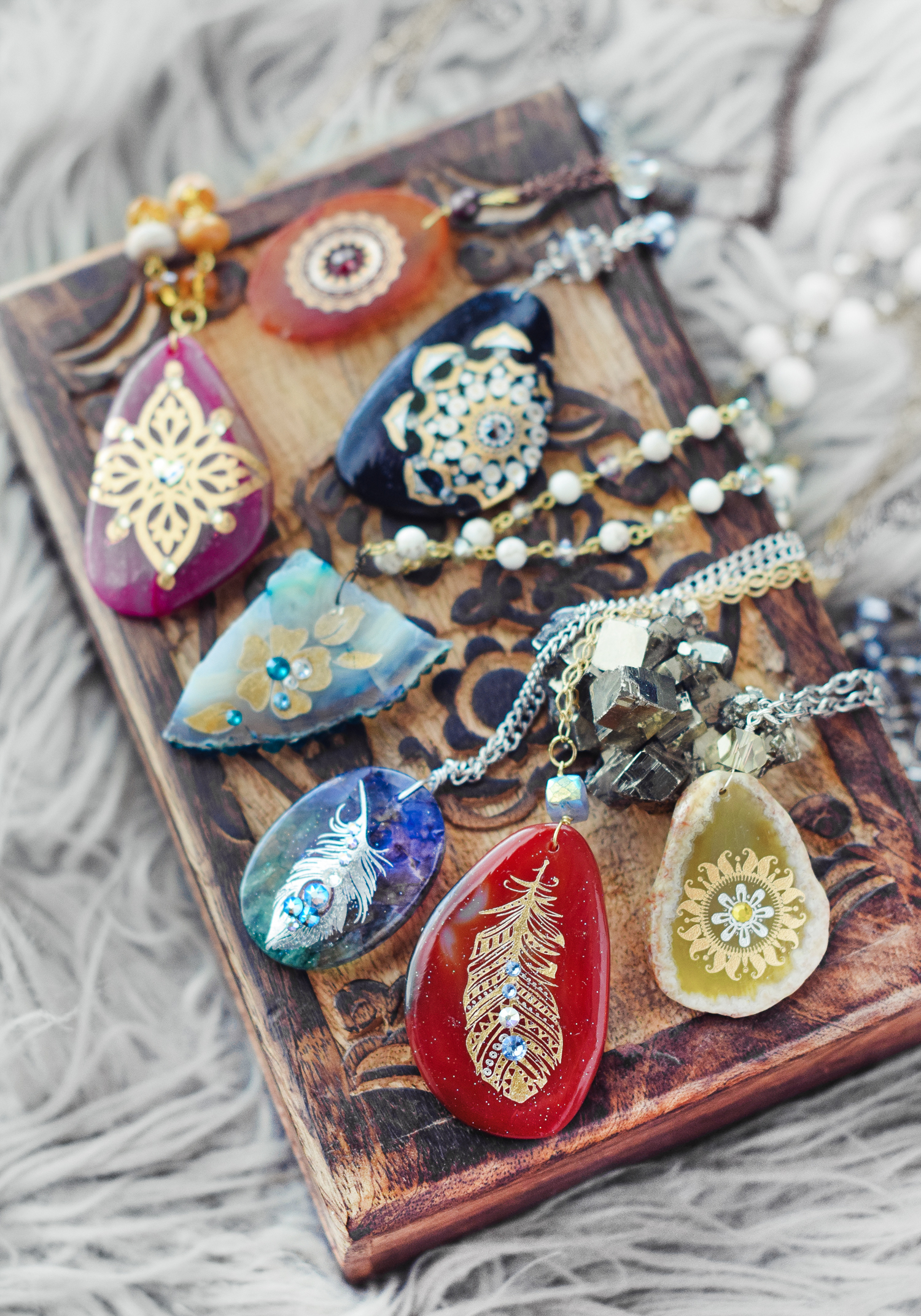 DIY Boho Bliss Necklace Video Tutorial - Quiet Lion Creations