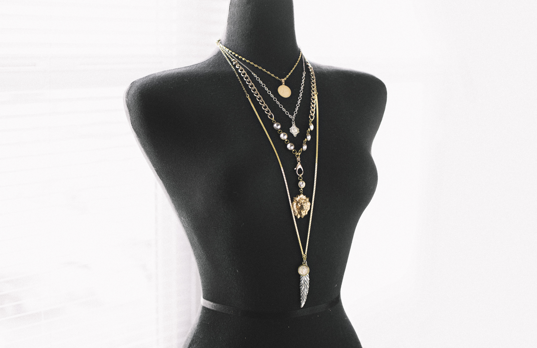 diy layered necklace by Quiet Lion Creations
