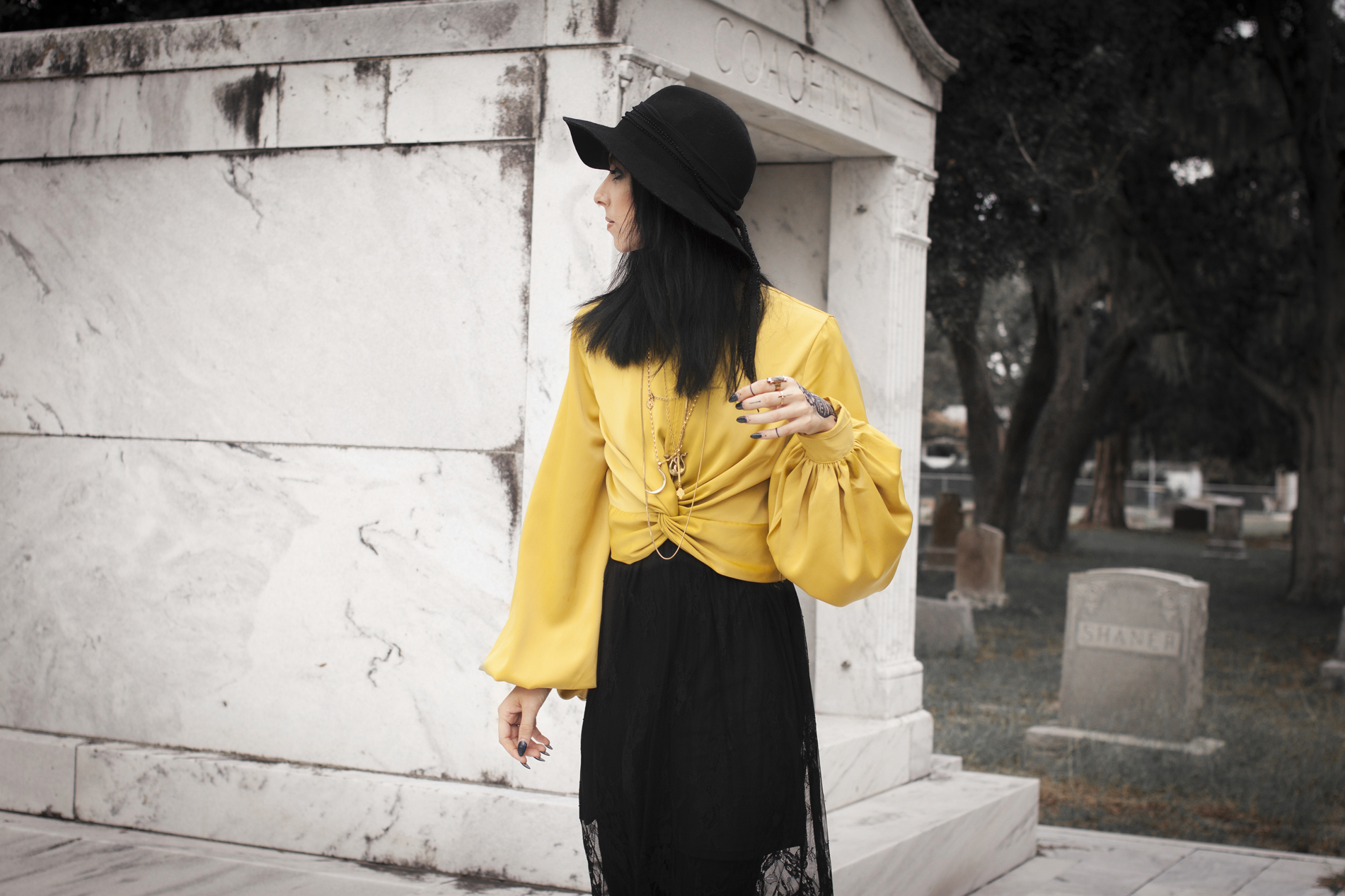 Halloween goth fashion lookbook by Quiet Lion Creations