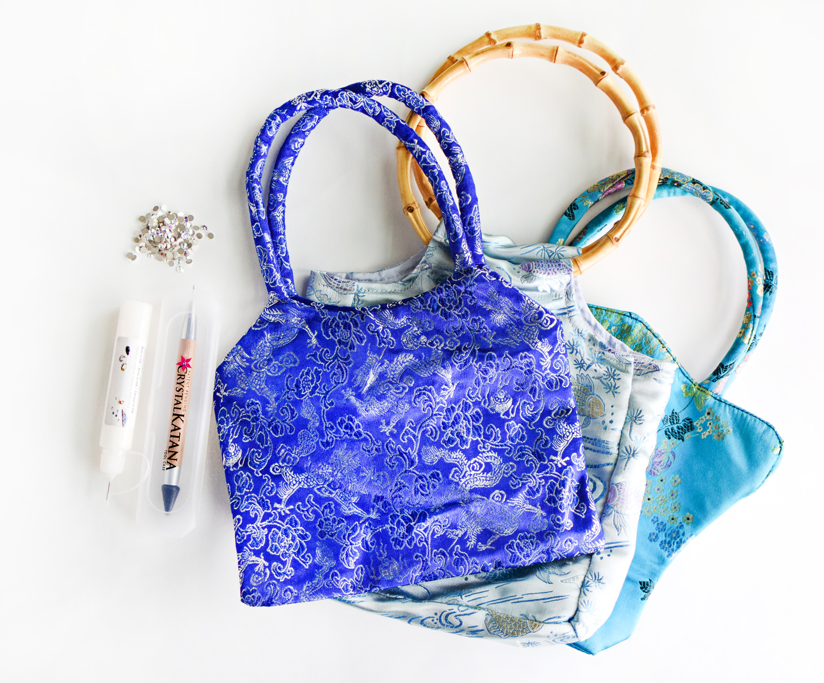 DIY Sparkly Upcycled Purses