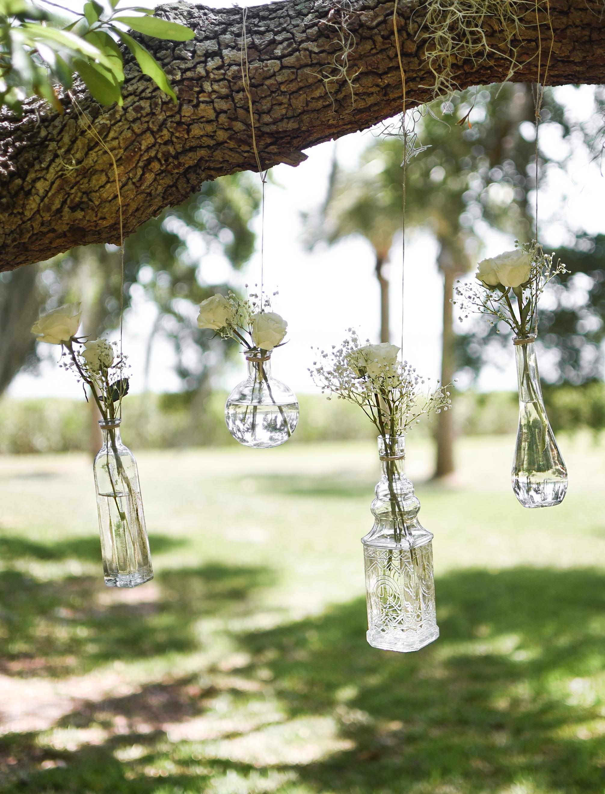 DIY Hanging Flower Vases