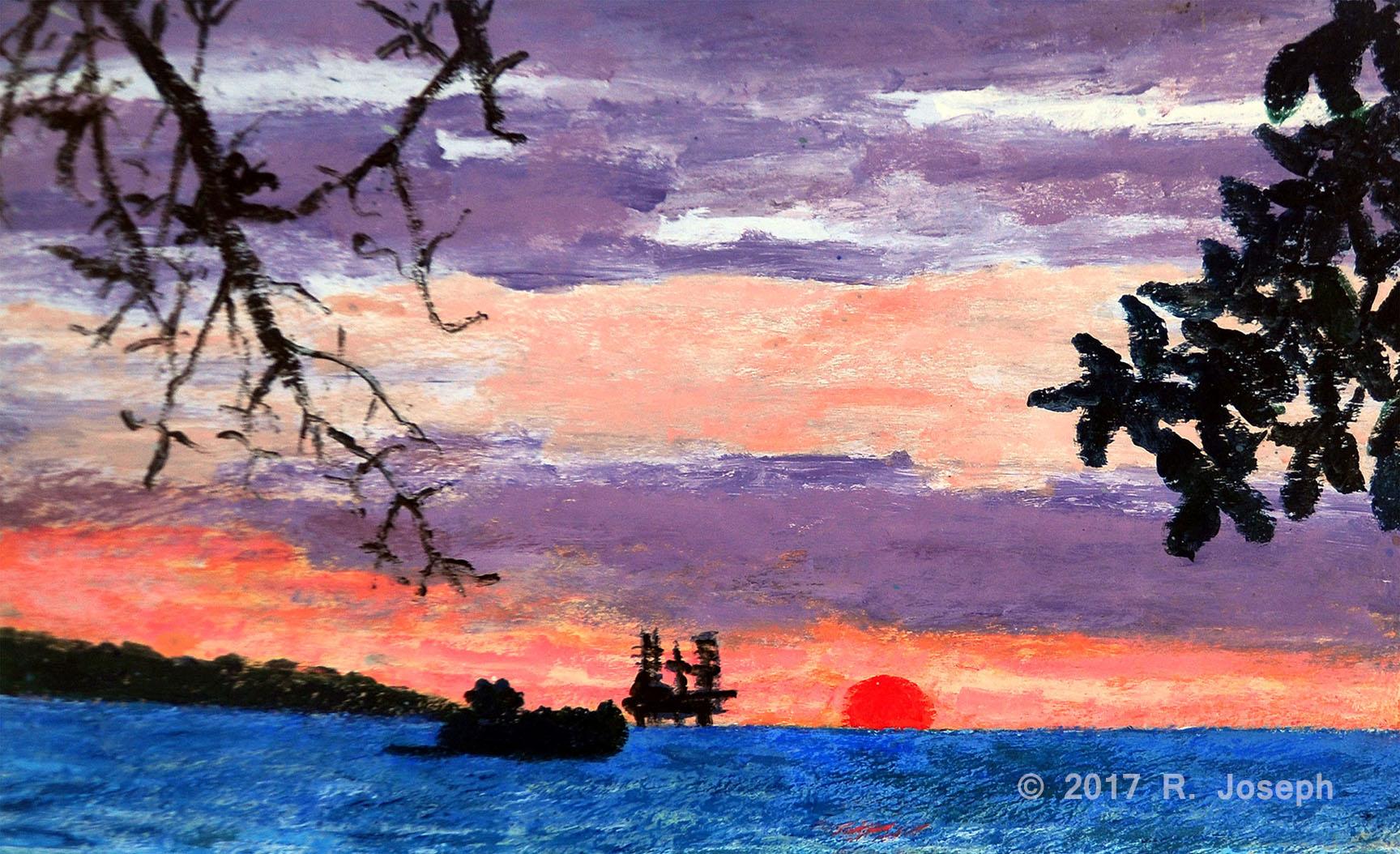 Faralon Rock at Sunset
