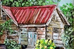 Old House with Yellow Croton - Rio Claro
