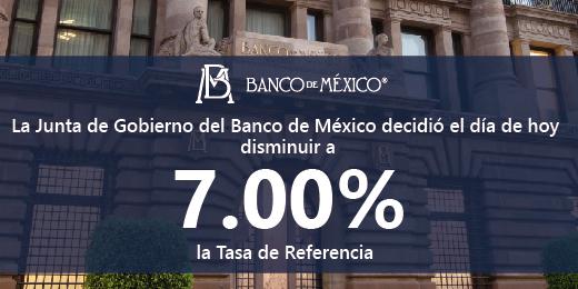 Economía mundial sesgada por coronavirus: Baja Banxico tasa de interés a 7%