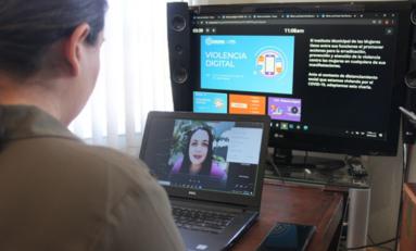 Participan 100 personas en videoconferencia sobre Violencia Digital del IMM