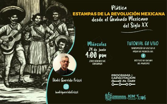 El Gobierno Municipal invita a plática en línea sobre el grabado inspirado en la Revolución Mexicana