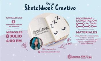 Gobierno Municipal te invita al taller en línea de Sketchbook creativo
