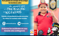 Por confinamiento, imparte Cuerpo de Bomberos programa preventivo a través de redes sociales