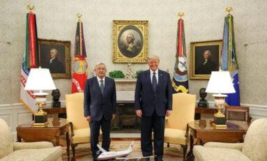 Se reunen AMLO y Trump en Casa Blanca de EU; temas T-MEC, la pandemia de Covid, comercio, migración ilegal, leyes, entre otros.