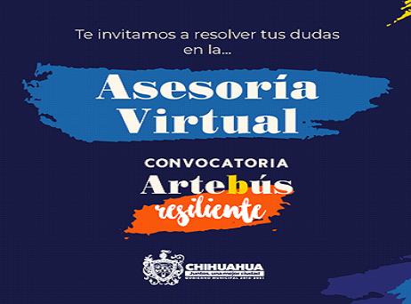 Brindará Municipio asesoría virtual para interesados en la convocatoria Artebus Resiliente