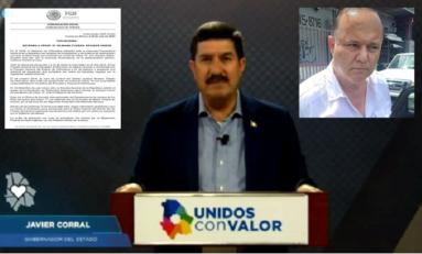 Emite Gobernador Corral mensaje con motivo de la detención de Cesar Duarte en EU