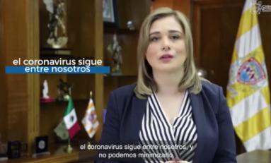 Pide Maru Campos seguir con medidas sanitarias ante COVID para evitar más elevación en contagios