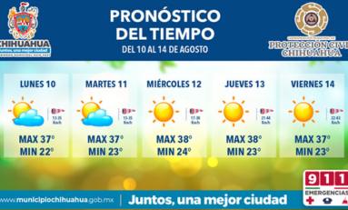 Continuarán las altas temperaturas para esta semana