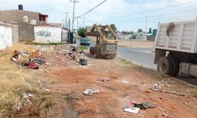 Limpia Gobierno Municipal 99 mil 900 metros cuadrados de terrenos