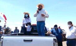 Productores realizan caravana para pedir se detenga extracción de presa Las Virgenes