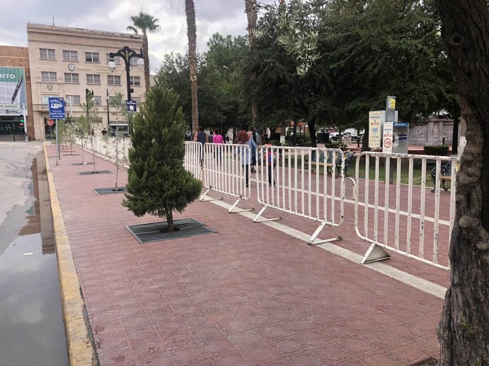 Cierran con vallas metálicas la Plaza Hidalgo por «Grito de Independencia»
