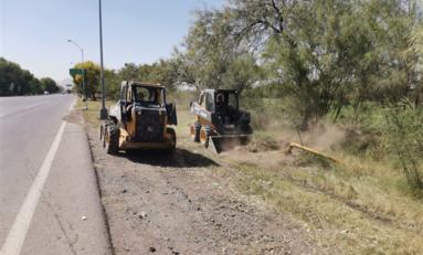 Limpia Gobierno Municipal más de 67 mil metros cuadrados en carretera Aldama