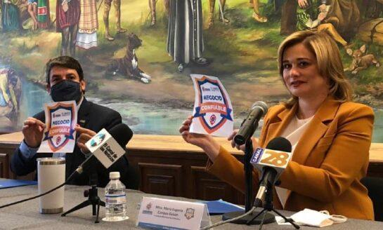 """Lanzan Municipio y CANACO certificación """"Negocio Confiable""""; observarán los protocolos sanitarios ante COVID-19"""