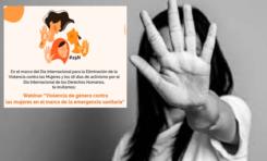 """Invitan Congreso a la conferencia """"Violencia de género contra las mujeres en el marco de la emergencia sanitaria"""""""
