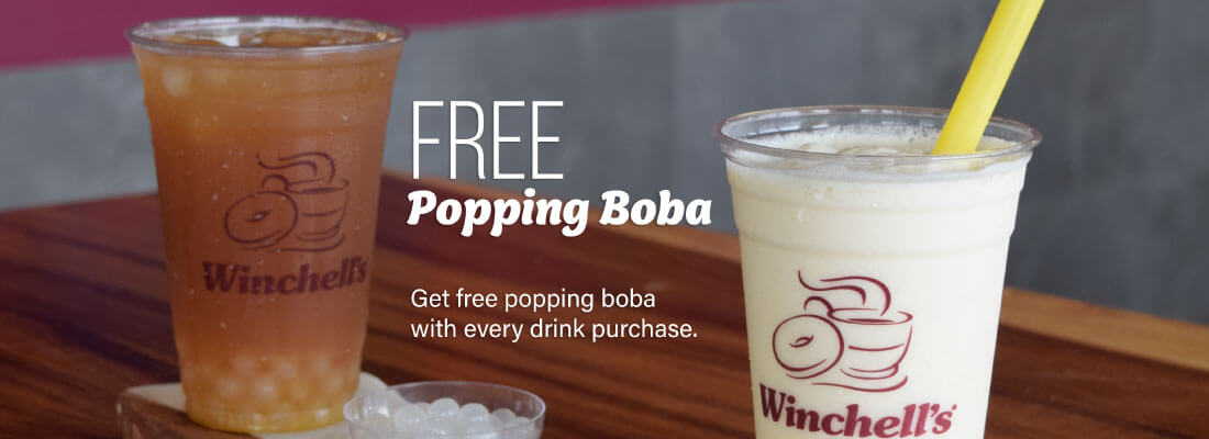 Winchell's Free Popping Boba Promo