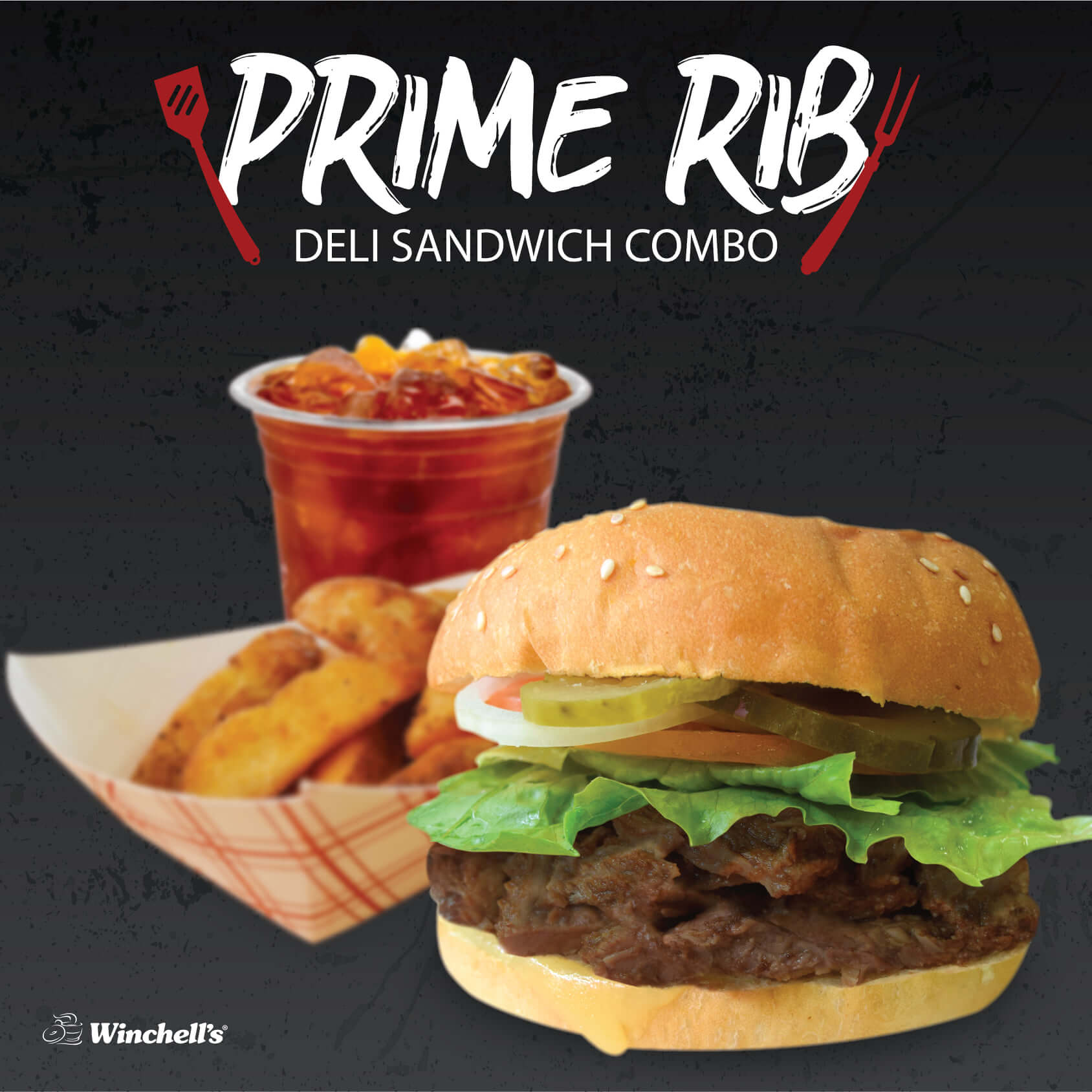 promotions - Prime Rib Sandwich Combo