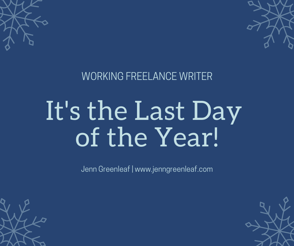 It's the last day of the year!