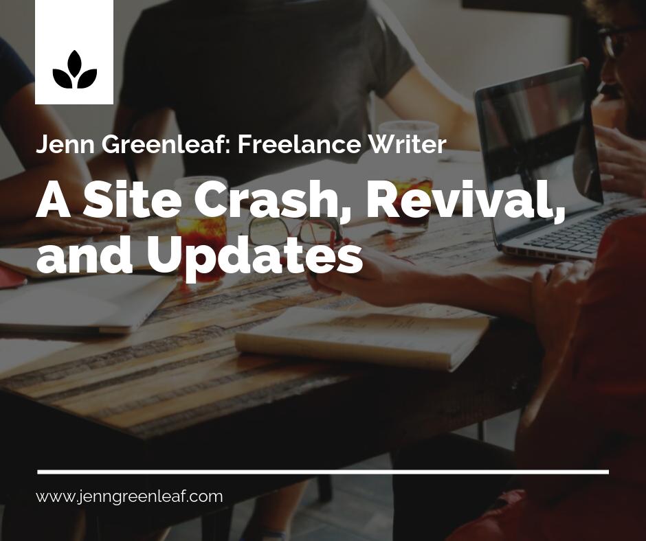 A Site Crash, Revival, and Updates