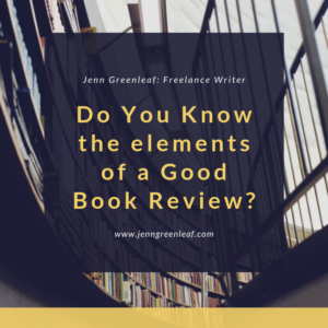 Do you know the elements of a good book review?