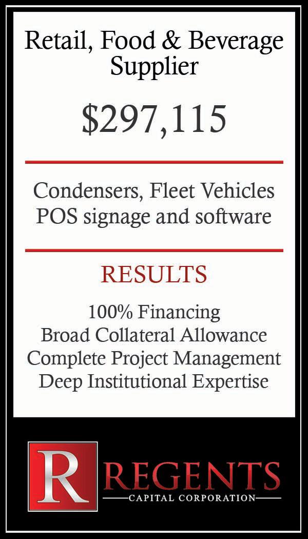 Regents food and beverage financing graphic