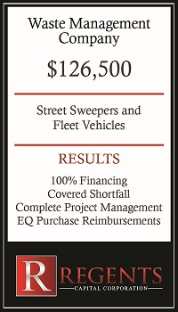 Waste management financing options graphic
