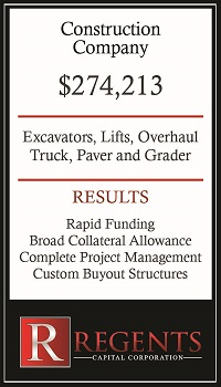 Construction capital equipment financing graphic