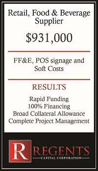 Beverage supplier equipment lease financing graphic