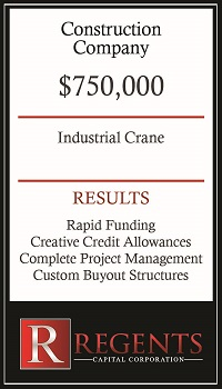 Construction company capital equipment financing graphic