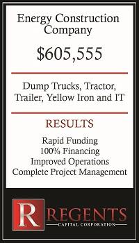 Energy construction company financing