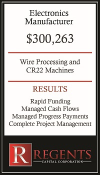 Electronic manufacturing financing options graphic