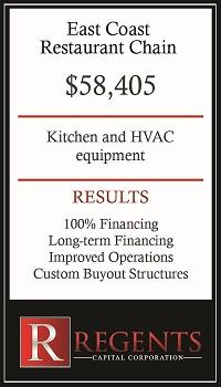 restaurant capital equipment financing graphic