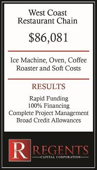 Restaurant chain supply financing graphic