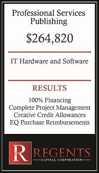 Publishing company financing graphic