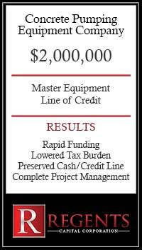 Concrete equipment financing company