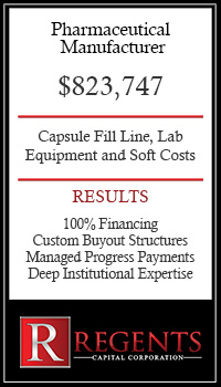Pharmaceutical Company financing graphic