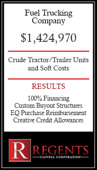 Trucking company financing graphic