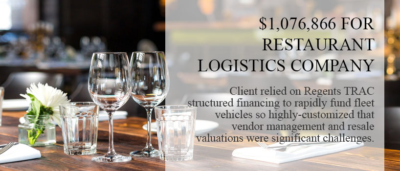 restaurant equipment financing and logistics company graphic