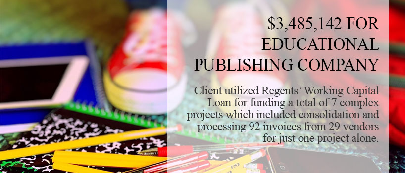 Educational publishing company graphic