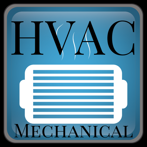 Commercial HVAC icon saying HVAC MECHANICAL