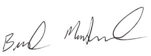 Brad McDaniel's signature