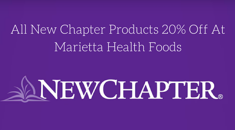 All New Chapter Products 20% Off at Marietta Health Foods