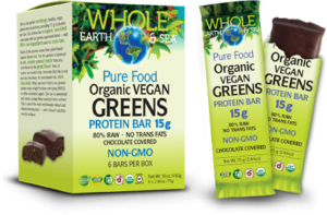 whole earth pure food protein bars